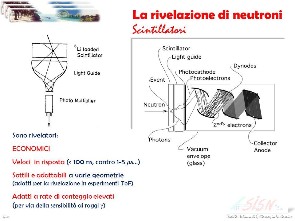La rivelazione di neutroni Scintillatori