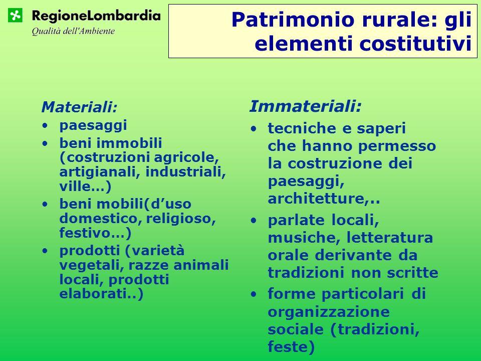 Patrimonio rurale: gli elementi costitutivi