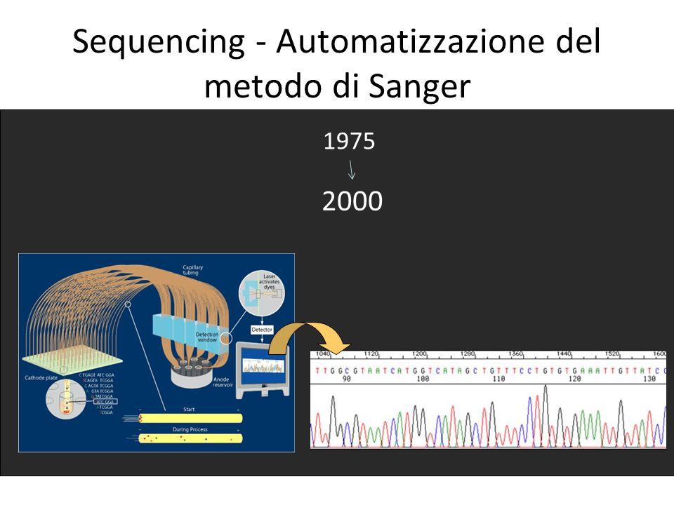 Sequencing - Automatizzazione del metodo di Sanger