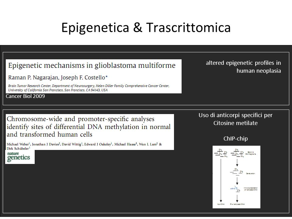 Epigenetica & Trascrittomica