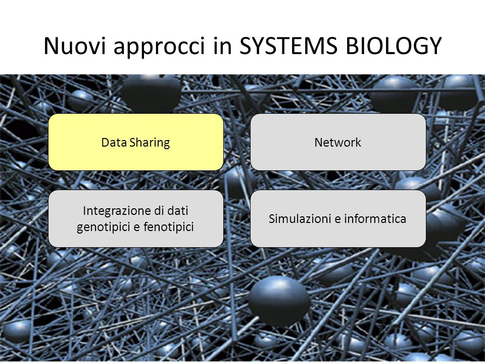 Nuovi approcci in SYSTEMS BIOLOGY