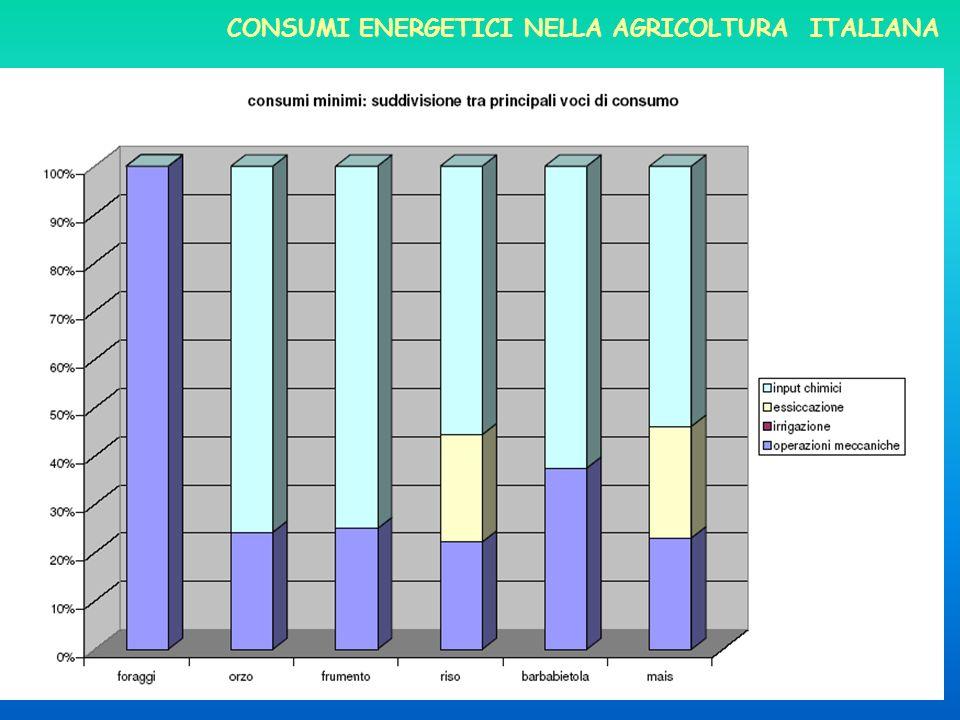 Consumi energetici nella agricoltura italiana