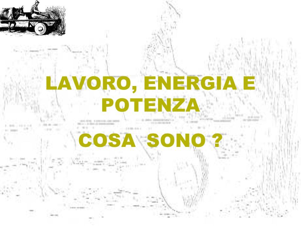 LAVORO, ENERGIA E POTENZA
