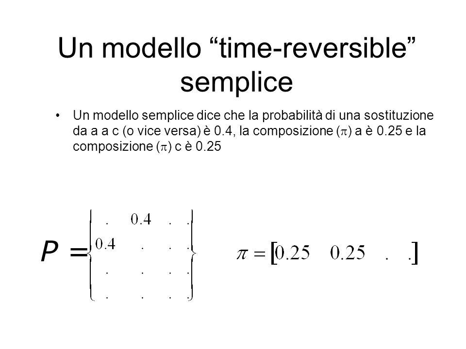 Un modello time-reversible semplice