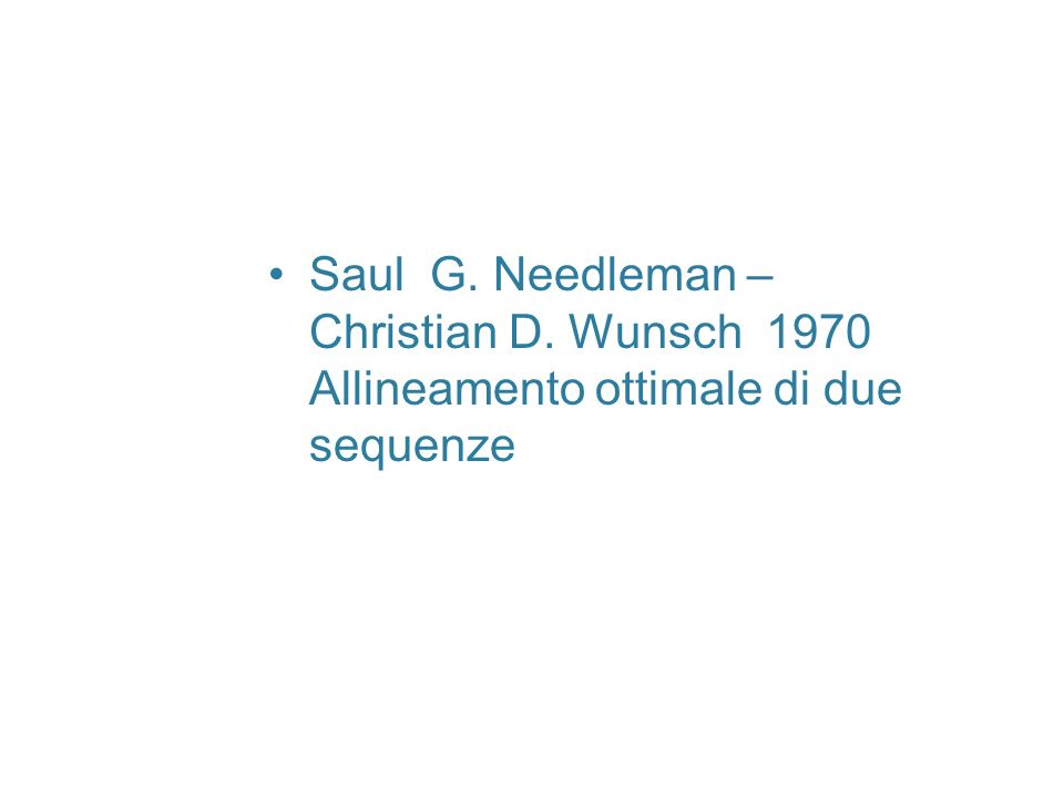 Saul G. Needleman – Christian D