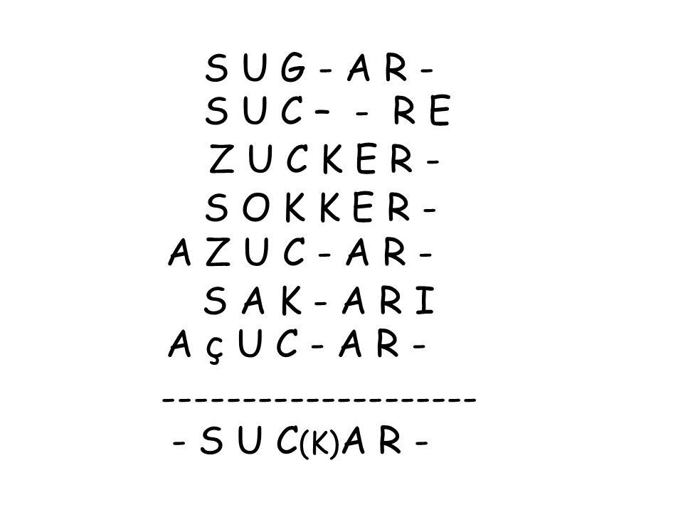 -------------------- - S U C(K)A R -