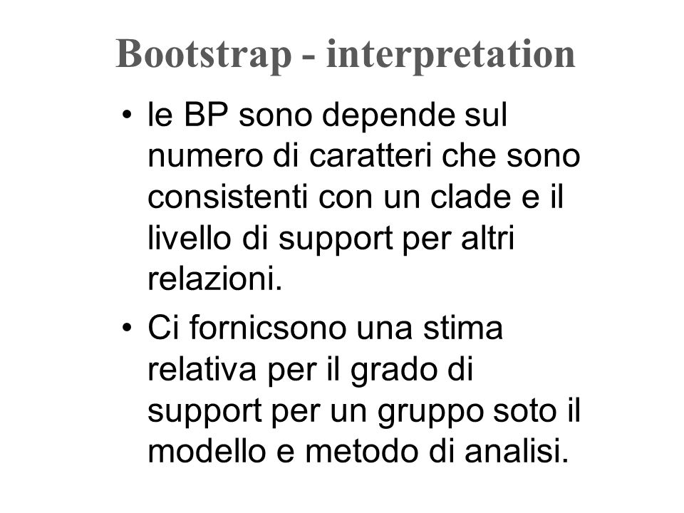 Bootstrap - interpretation