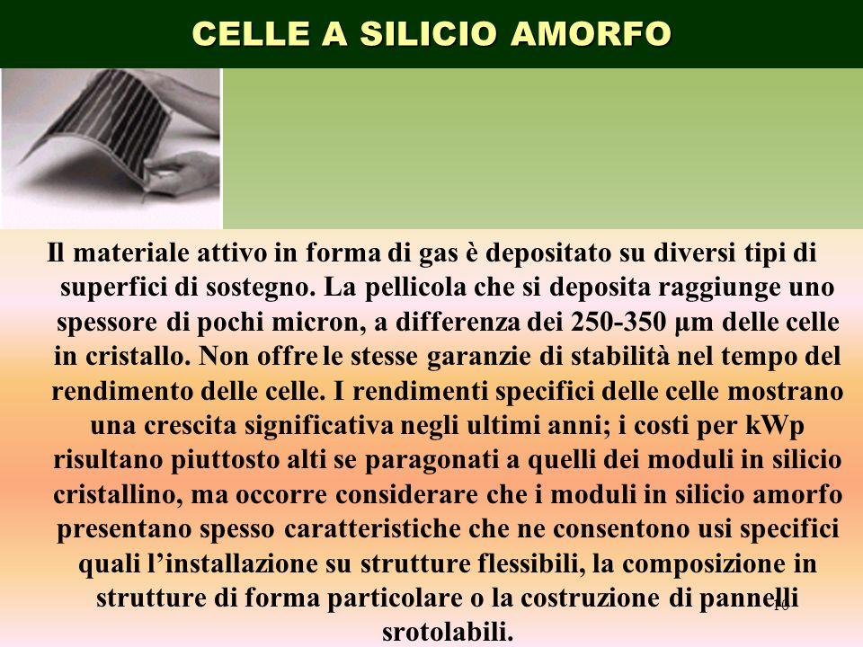 CELLE A SILICIO AMORFO A FILM SOTTILE