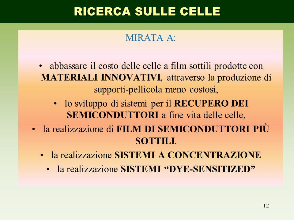 RICERCA SULLE CELLE MIRATA A: