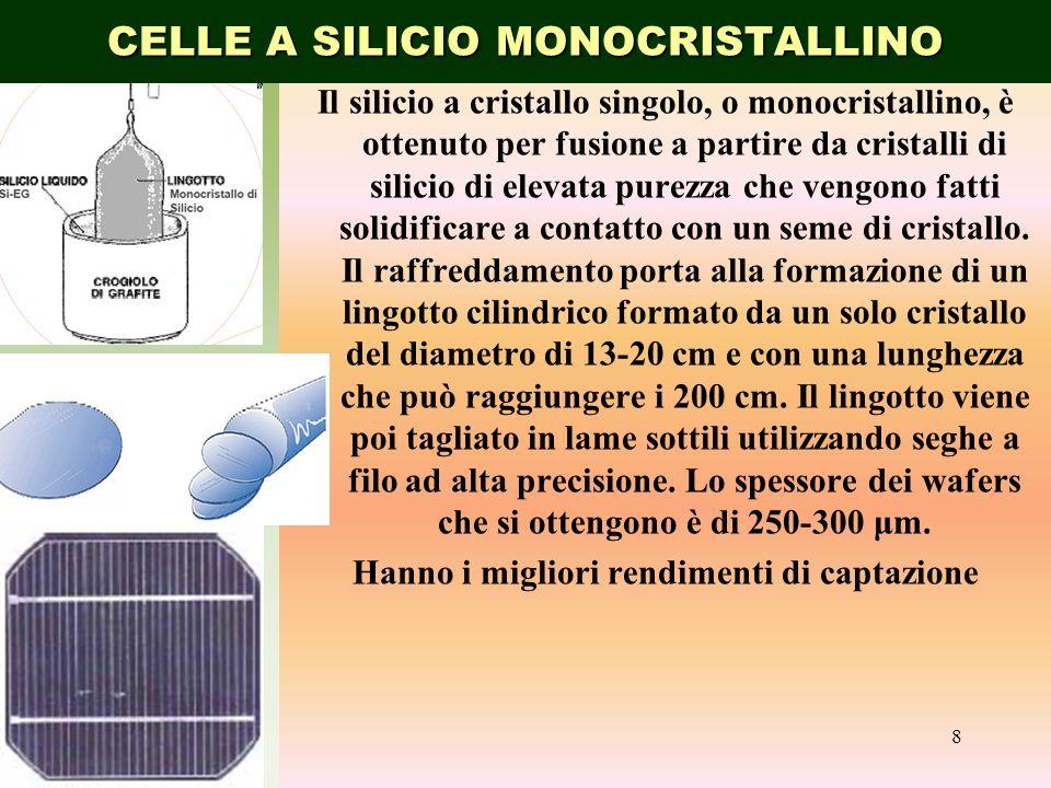 CELLE A SILICIO MONOCRISTALLINO