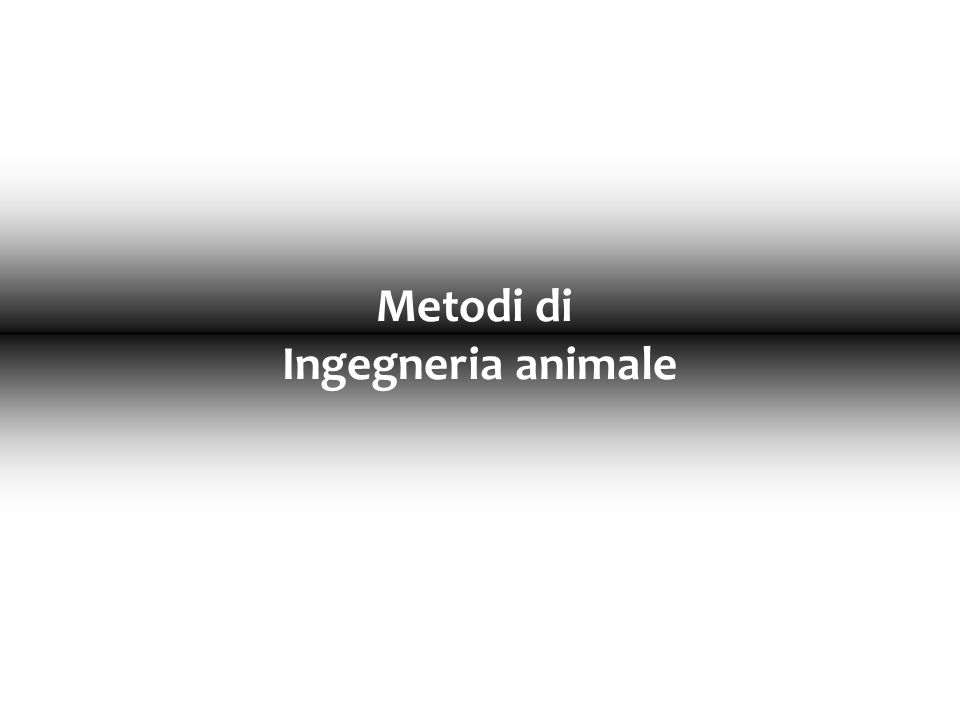 Metodi di Ingegneria animale