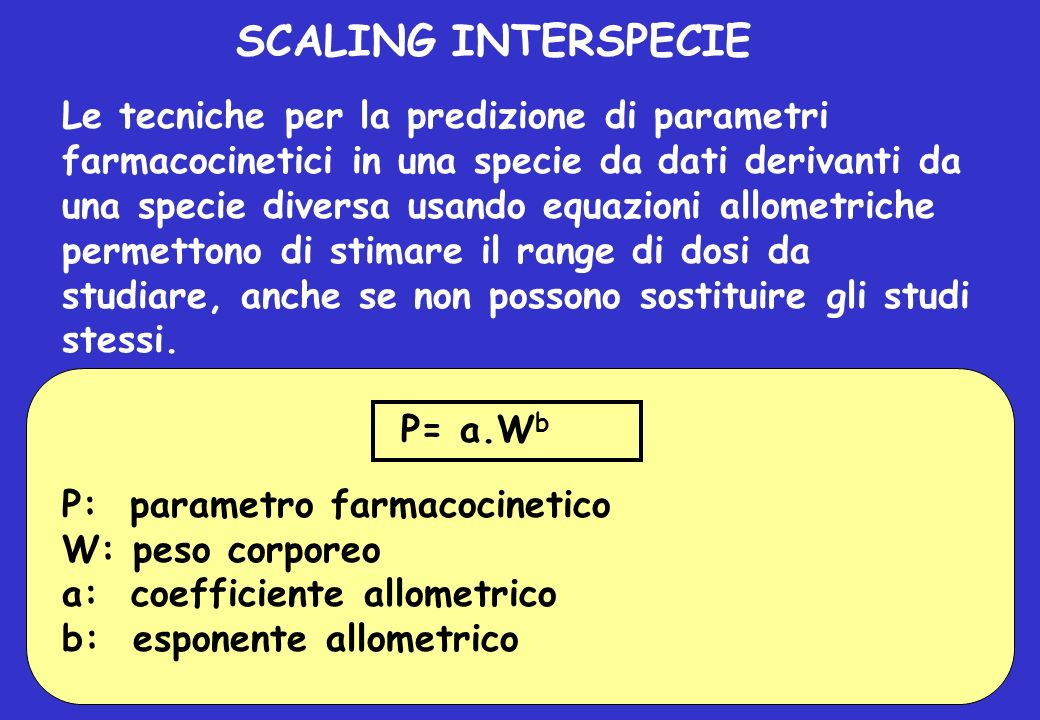 SCALING INTERSPECIE