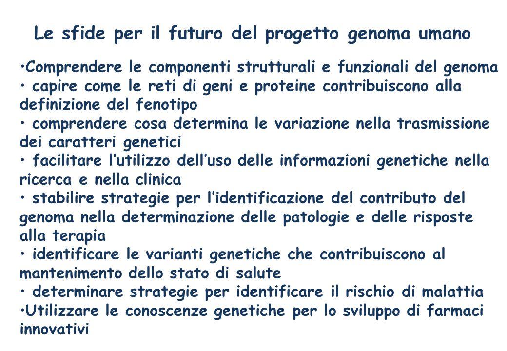 Le sfide per il futuro del progetto genoma umano