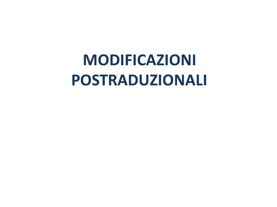 MODIFICAZIONI POSTRADUZIONALI