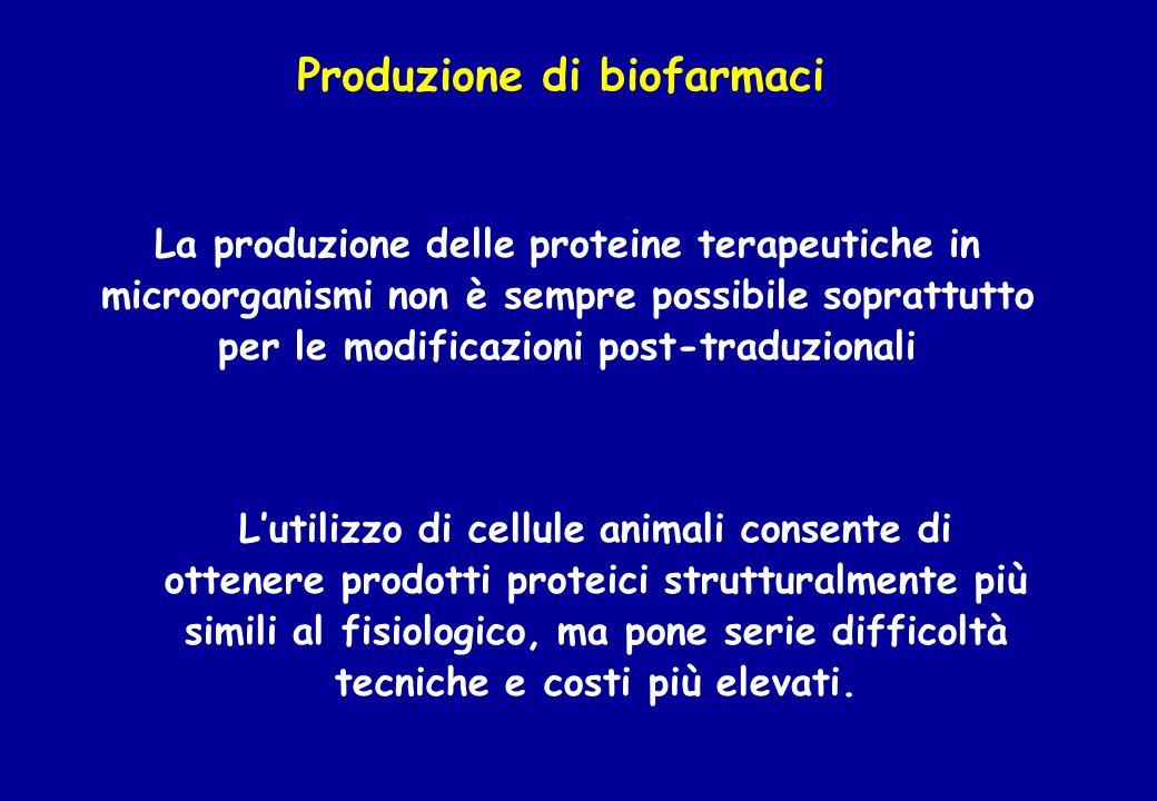 Produzione di biofarmaci