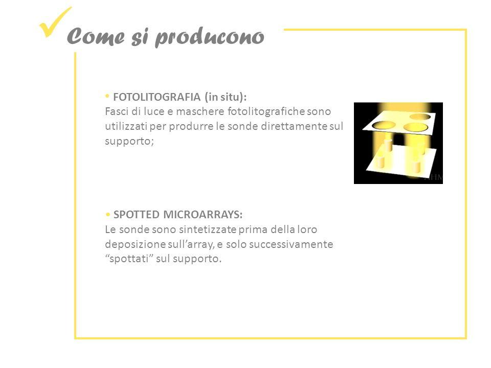 Come si producono FOTOLITOGRAFIA (in situ):
