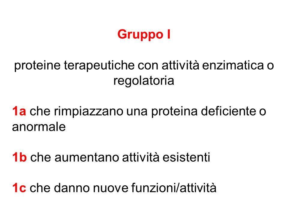 proteine terapeutiche con attività enzimatica o regolatoria