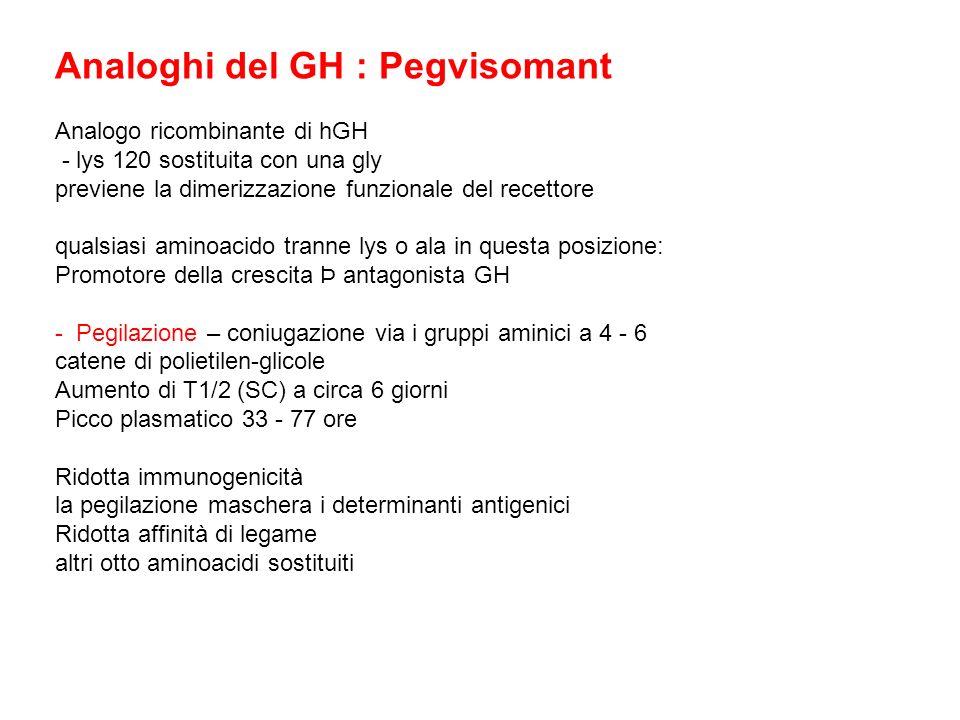 Analoghi del GH : Pegvisomant