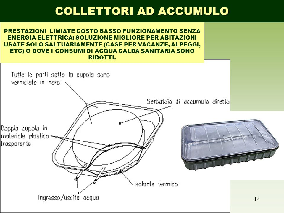 COLLETTORI AD ACCUMULO