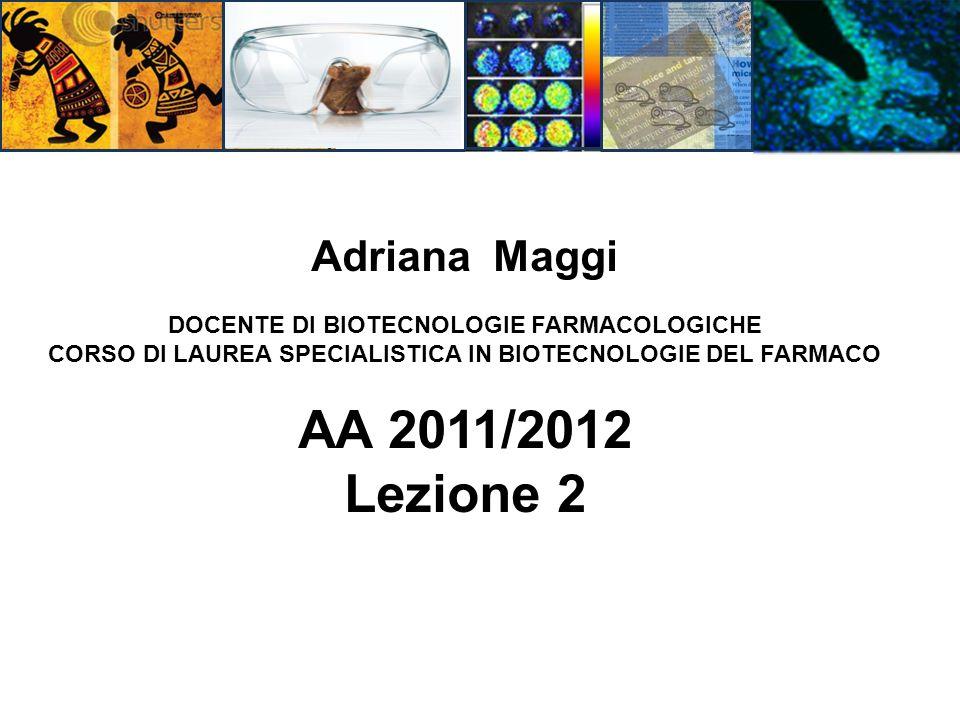 AA 2011/2012 Lezione 2 Adriana Maggi