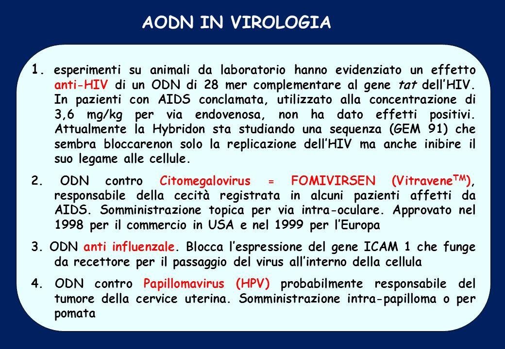 AODN IN VIROLOGIA