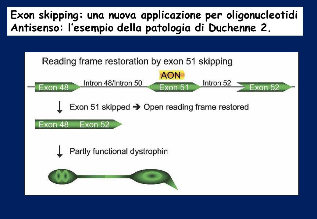 Exon skipping: una nuova applicazione per oligonucleotidi