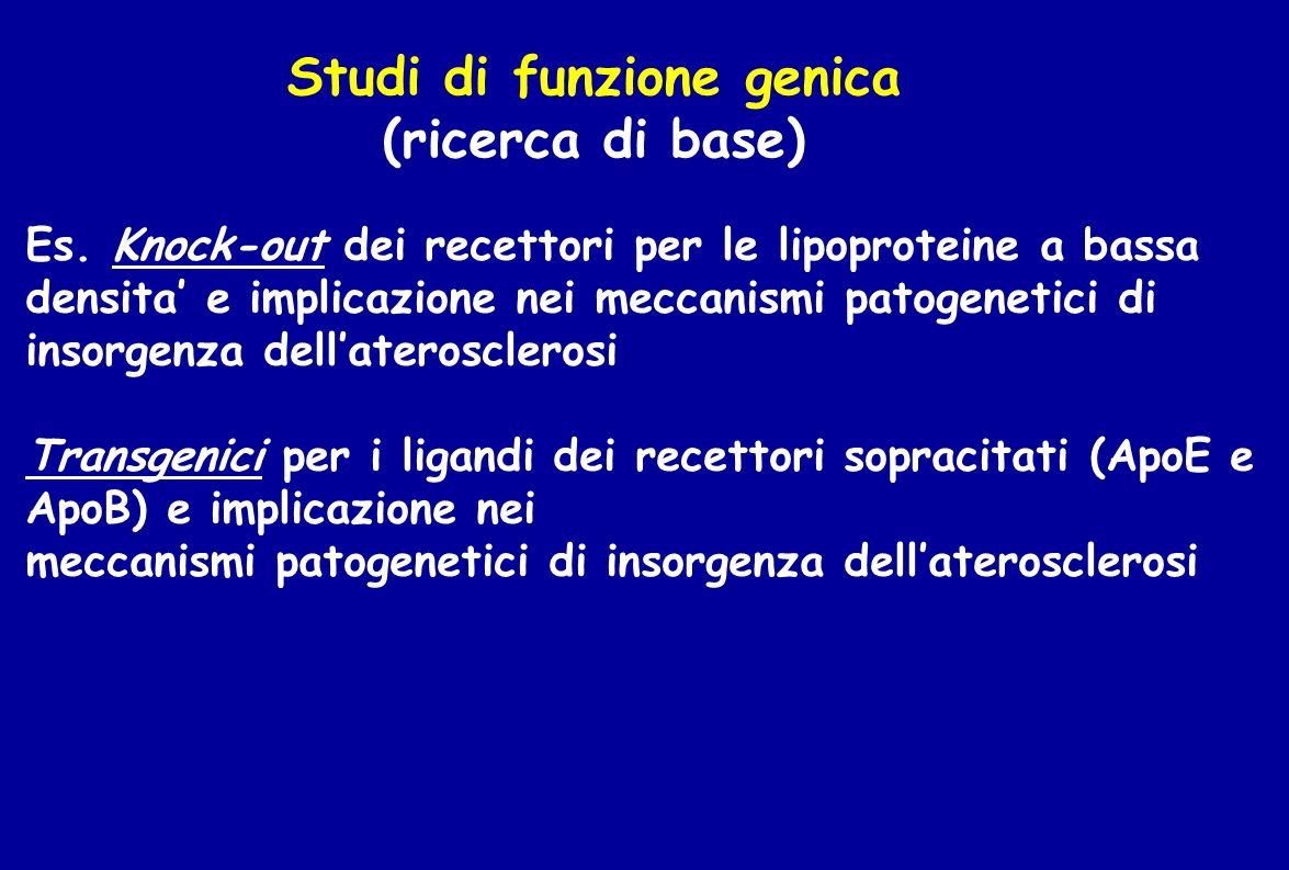 Studi di funzione genica