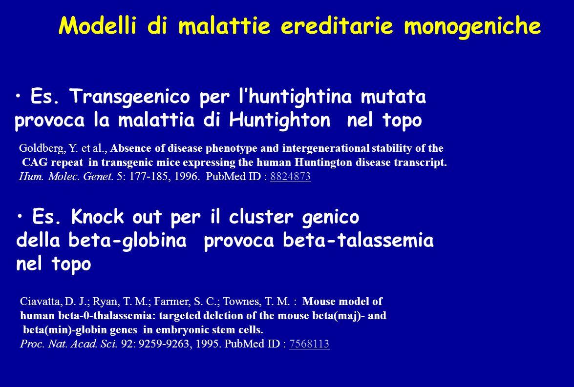 Modelli di malattie ereditarie monogeniche