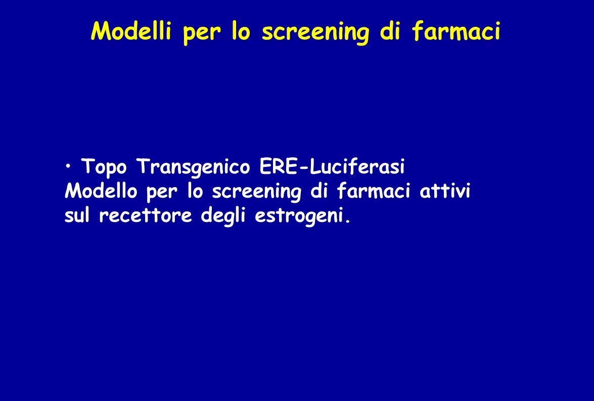 Modelli per lo screening di farmaci
