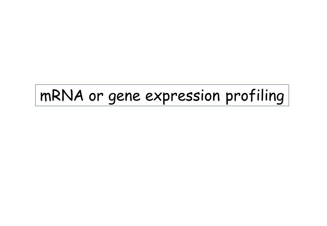 mRNA or gene expression profiling