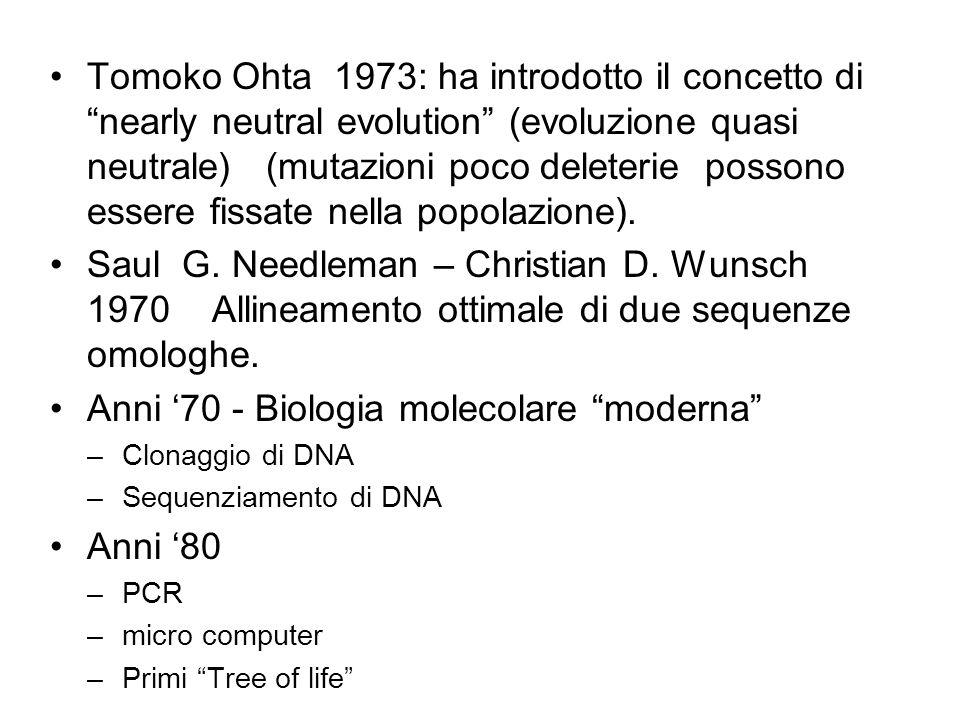 Anni '70 - Biologia molecolare moderna