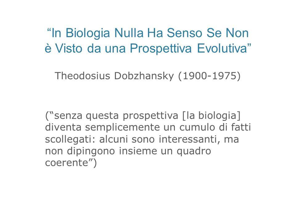 In Biologia Nulla Ha Senso Se Non è Visto da una Prospettiva Evolutiva