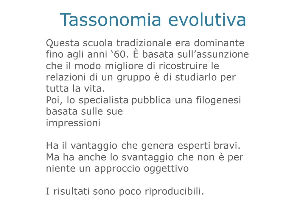 Tassonomia evolutiva