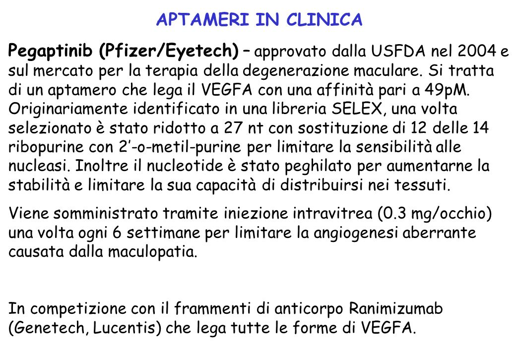 APTAMERI IN CLINICA