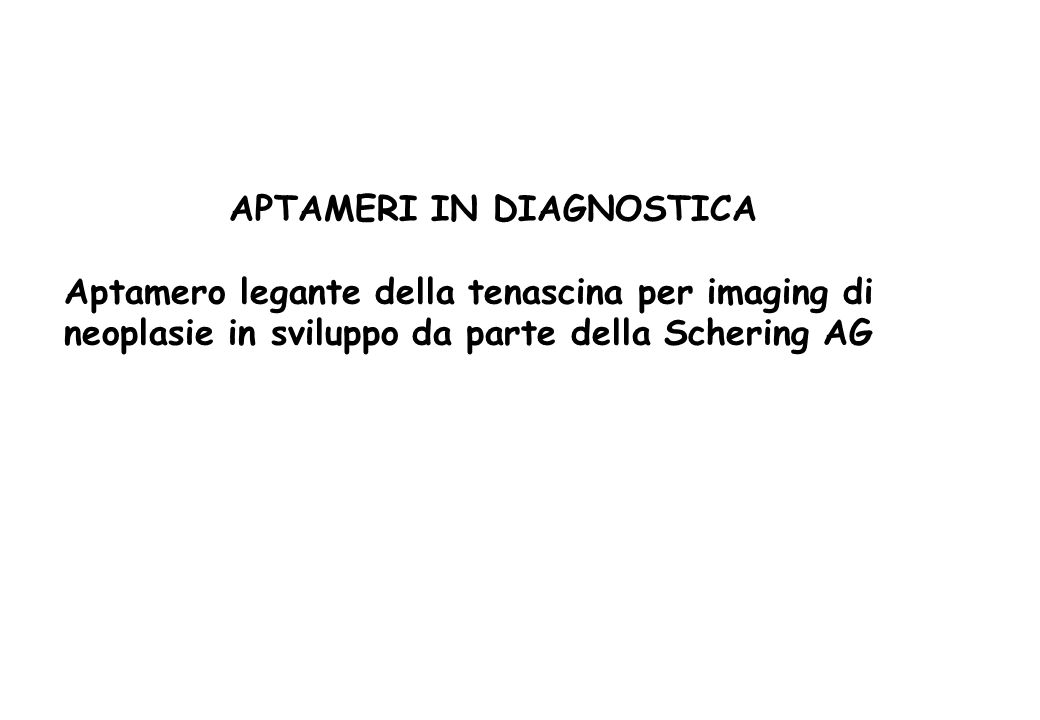APTAMERI IN DIAGNOSTICA