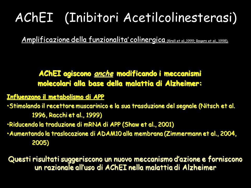 AChEI (Inibitori Acetilcolinesterasi)