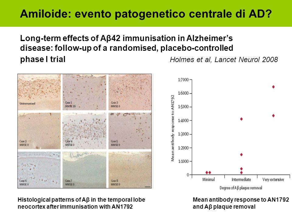 Amiloide: evento patogenetico centrale di AD