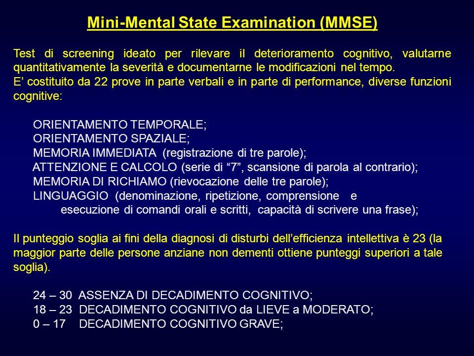 Mini-Mental State Examination (MMSE)
