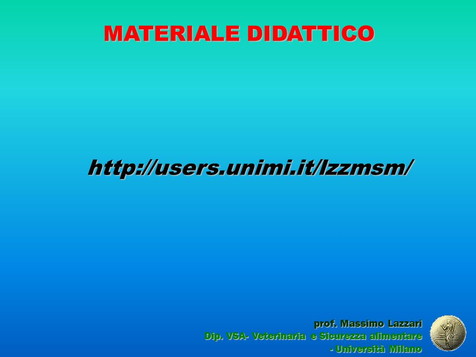 MATERIALE DIDATTICO http://users.unimi.it/lzzmsm/