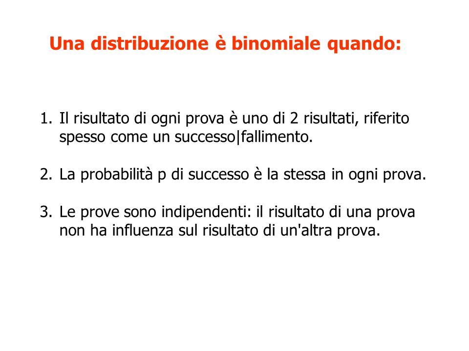 Una distribuzione è binomiale quando: