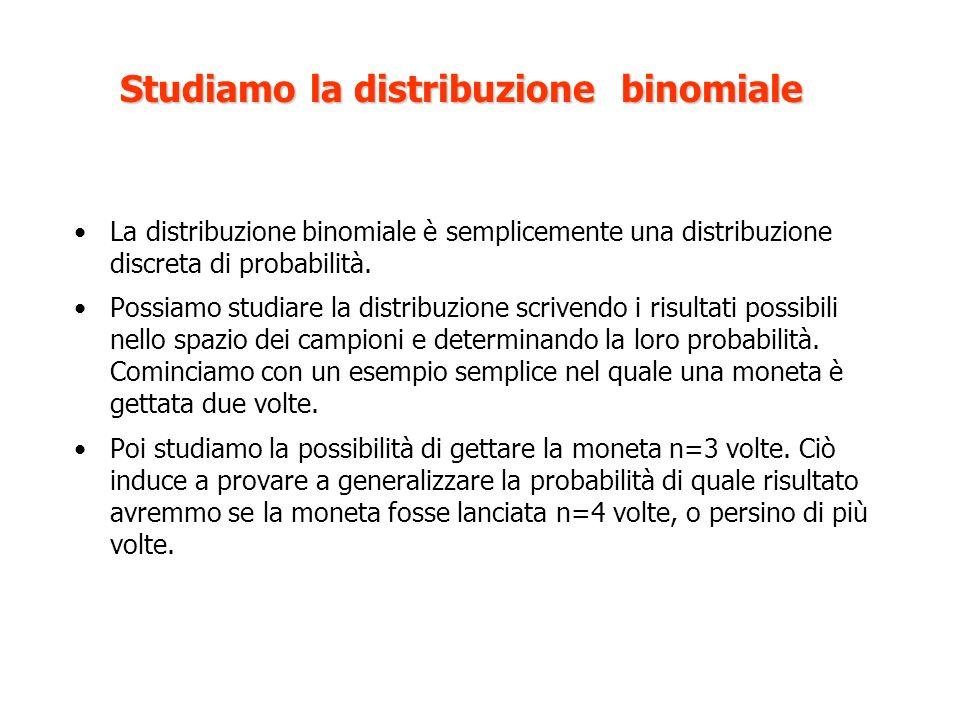 Studiamo la distribuzione binomiale