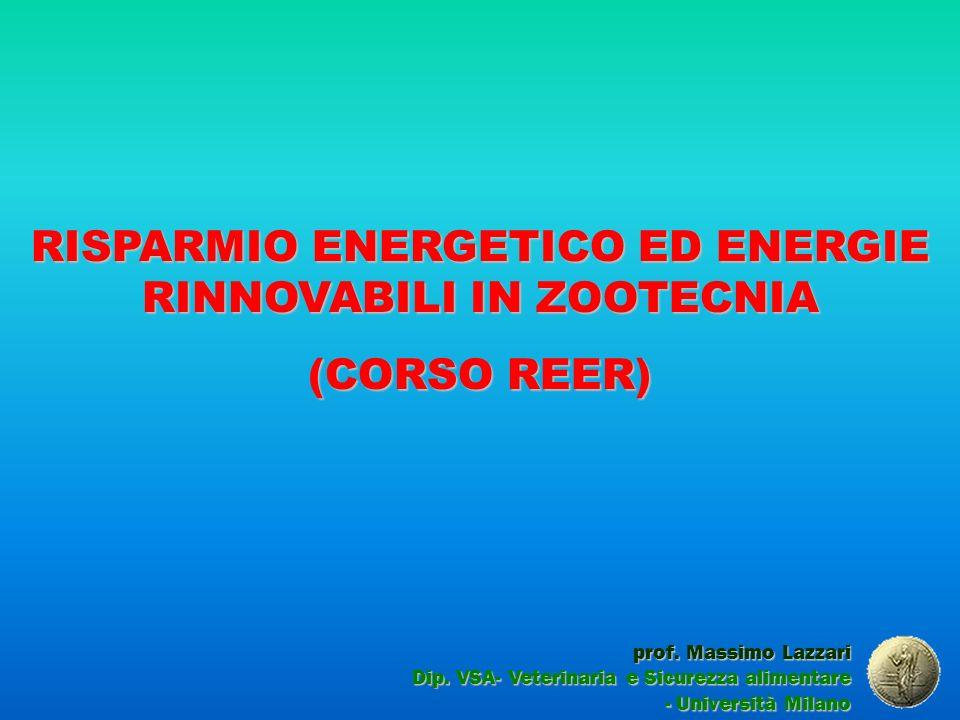 RISPARMIO ENERGETICO ED ENERGIE RINNOVABILI IN ZOOTECNIA