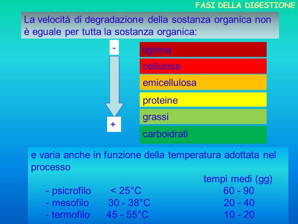 e varia anche in funzione della temperatura adottata nel processo