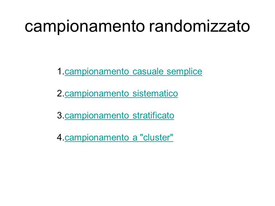 campionamento randomizzato