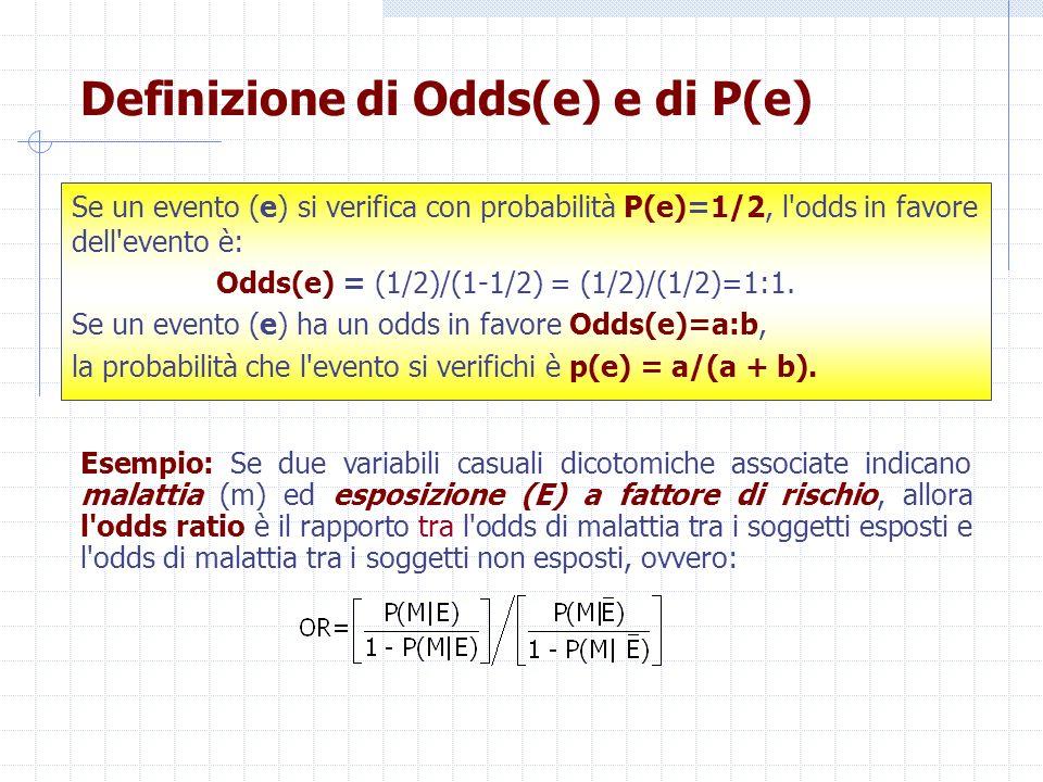 Definizione di Odds(e) e di P(e)