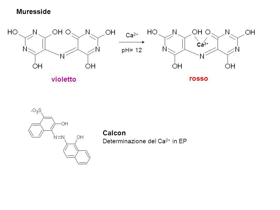 Muresside violetto rosso Calcon Ca2+ pH= 12