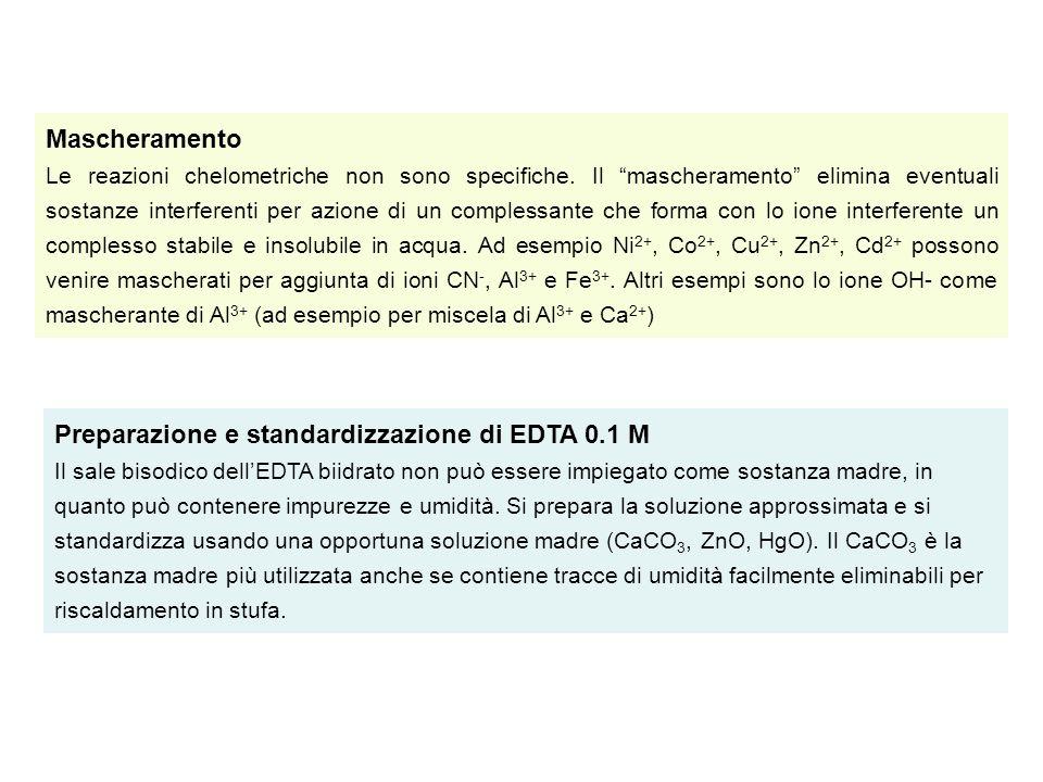 Preparazione e standardizzazione di EDTA 0.1 M