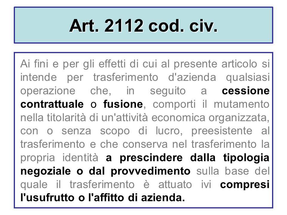 Art. 2112 cod. civ.