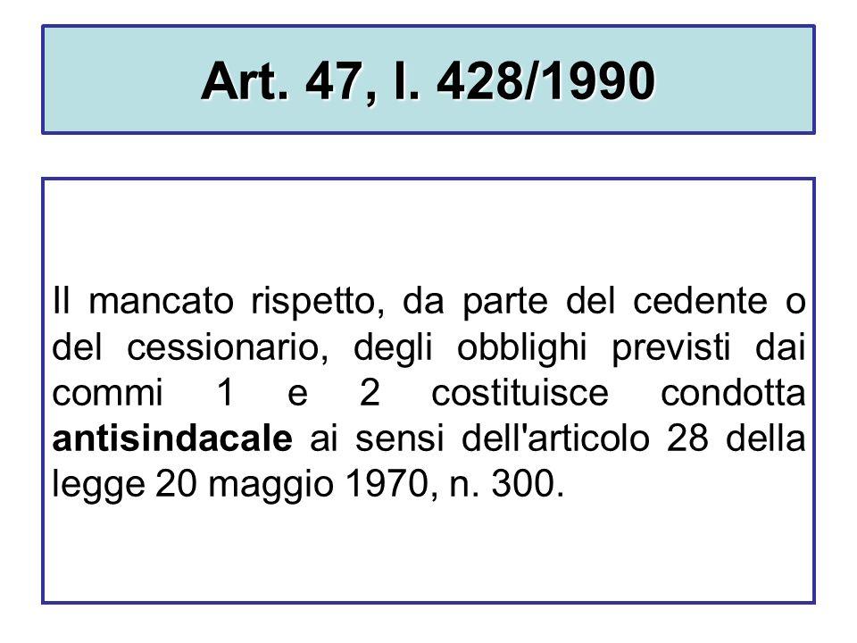 Art. 47, l. 428/1990