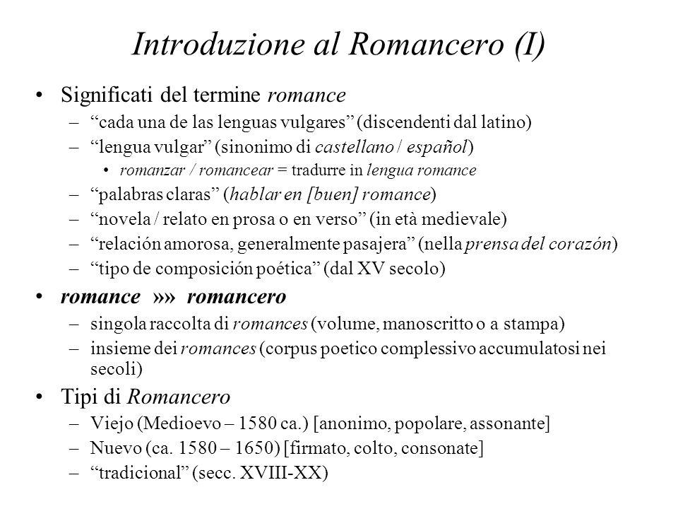 Introduzione al Romancero (I)